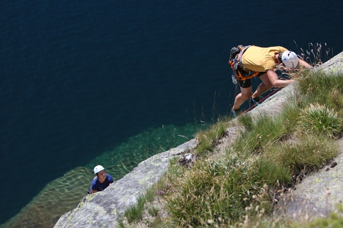Beautiful granite climbing above pristine lakes is not uncommon on this trip